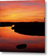 New Hampshire Salt Marsh At Sunrise Metal Print