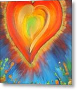 New Heart Metal Print