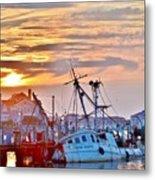 New Hope Sunrise - Sunken Ship At West Ocean City Harbor Metal Print