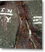 New Jersey New York State Line Of The Appalachian Trail Metal Print