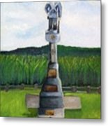 New Jersey Soldier At Monocacy Battlefield In Frederick Md. Metal Print