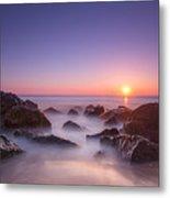 New Jersey Sunrise At Sea Girt Metal Print