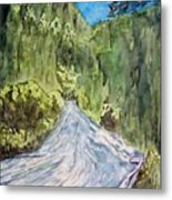 New Mexico Canyon Impression Metal Print