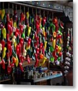 New Mexico Hanging Peppers Metal Print