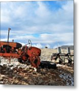 New Mexico Tractor Metal Print