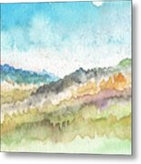 New Morning- Watercolor Art By Linda Woods Metal Print