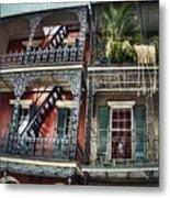 New Orleans Balconies No. 4 Metal Print