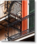New Orleans Balcony Metal Print