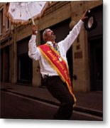 New Orleans Brass Band Leader Metal Print