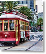 New Orleans Canal Streetcars  Metal Print