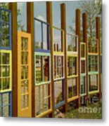 New Orleans Closed Door And A Window Of Many Views Metal Print