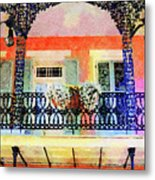 New Orleans French Quarter Balcony Metal Print