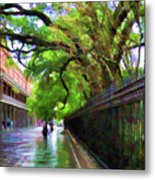 New Orleans French Quarter Paint  Metal Print