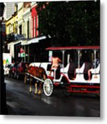 New Orleans Horse Carriage Metal Print