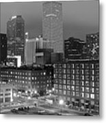 New Orleans In Black And Night Metal Print