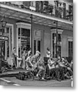 New Orleans Jazz 2 - Bw Metal Print