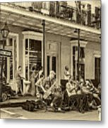 New Orleans Jazz 2 - Sepia Metal Print