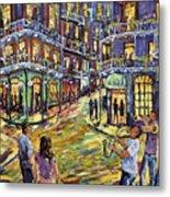 New Orleans Jazz Night By Prankearts Fine Art Metal Print
