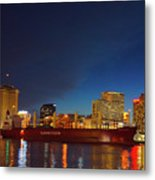 New Orleans Skyline At Night  Metal Print