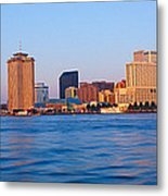 New Orleans Skyline From Algiers Point Metal Print