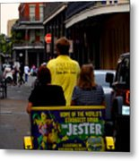 New Orleans Street Bike Taxi Metal Print