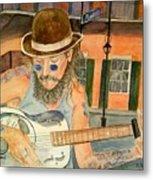 New Orleans Street Musician Metal Print