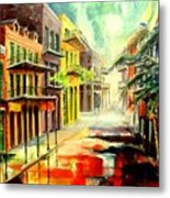 New Orleans Summer Rain Metal Print