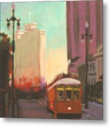 New Orleans Trolley Metal Print