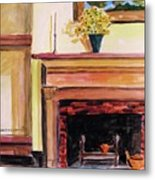 New Painting Over The Mantel Metal Print