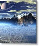 New Planet Saturn 1 Metal Print