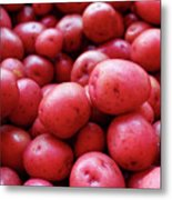 New Red Potatoes For Sale In A Market Metal Print