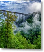 New River Gorge Bridge Morning  Metal Print