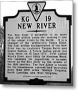 New River Historical Marker Metal Print