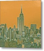 New Tork City Ny Travel Poster 4 Metal Print
