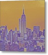 New Tork City Ny Travel Poster 5 Metal Print