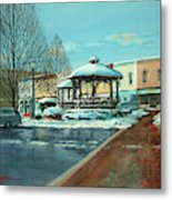 Triangle Park In Winter Metal Print