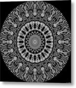 New Vision Black And White Metal Print