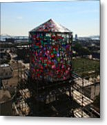 Stained Glass Water Tower In Milwaukee Metal Print