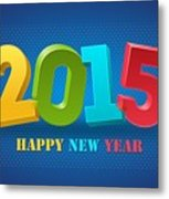 New Year 2015 Metal Print