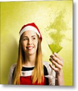 New Year Christmas Party Metal Print