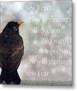 New Years Card Metal Print