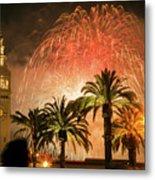 New Years Fireworks Finale San Francisco Metal Print