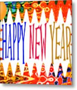 New Year's Greetings Metal Print