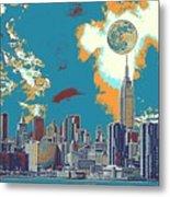 New York America  Skyline - Manhattan Metal Print