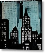 New York Art Deco Metal Print