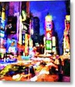 New York At Night - 15 Metal Print