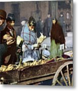 New York: Banana Cart Metal Print
