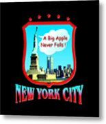 New York Big Apple Design Metal Print