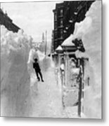 New York: Blizzard Of 1888 Metal Print