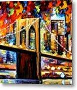 New York Brookyln Bridge Metal Print